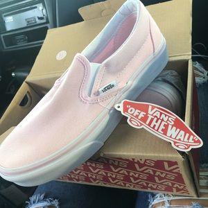 Pastel Pink Slip On Vans